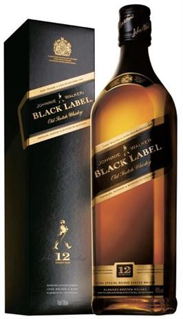 Johnnie Walker Scotch Black Label 12 Year Liter Bottle